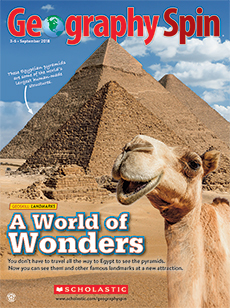 A world of Wonders Geography Spin magazine.