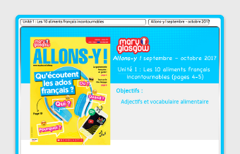 Allons-Y! French magazine.