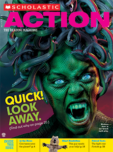 Quick Look Away Scholastic Action magazine.