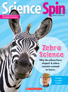 Zebra Science Science Spin magazine.