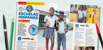 Open Spanish magazine for students.
